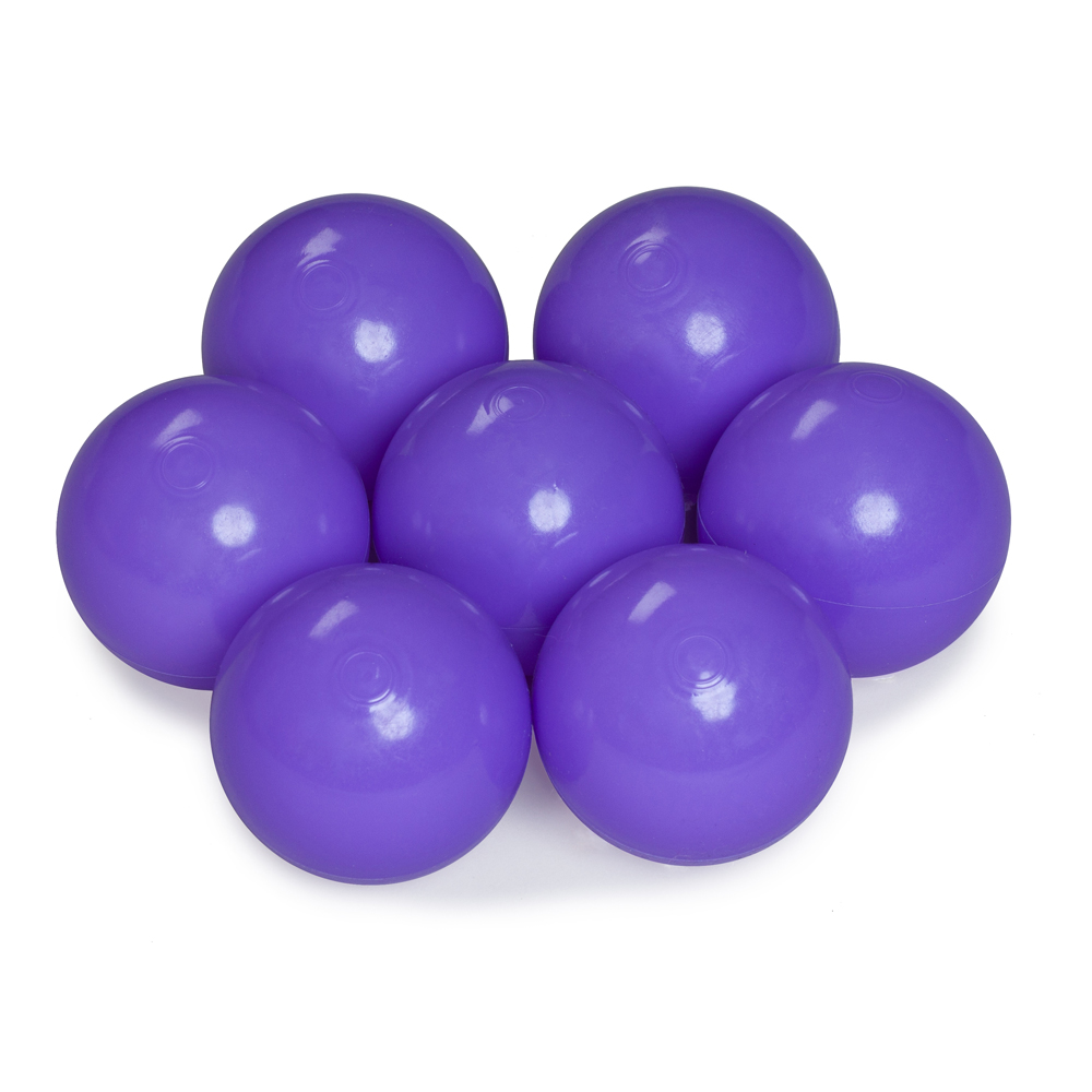 Color of the balls: violet