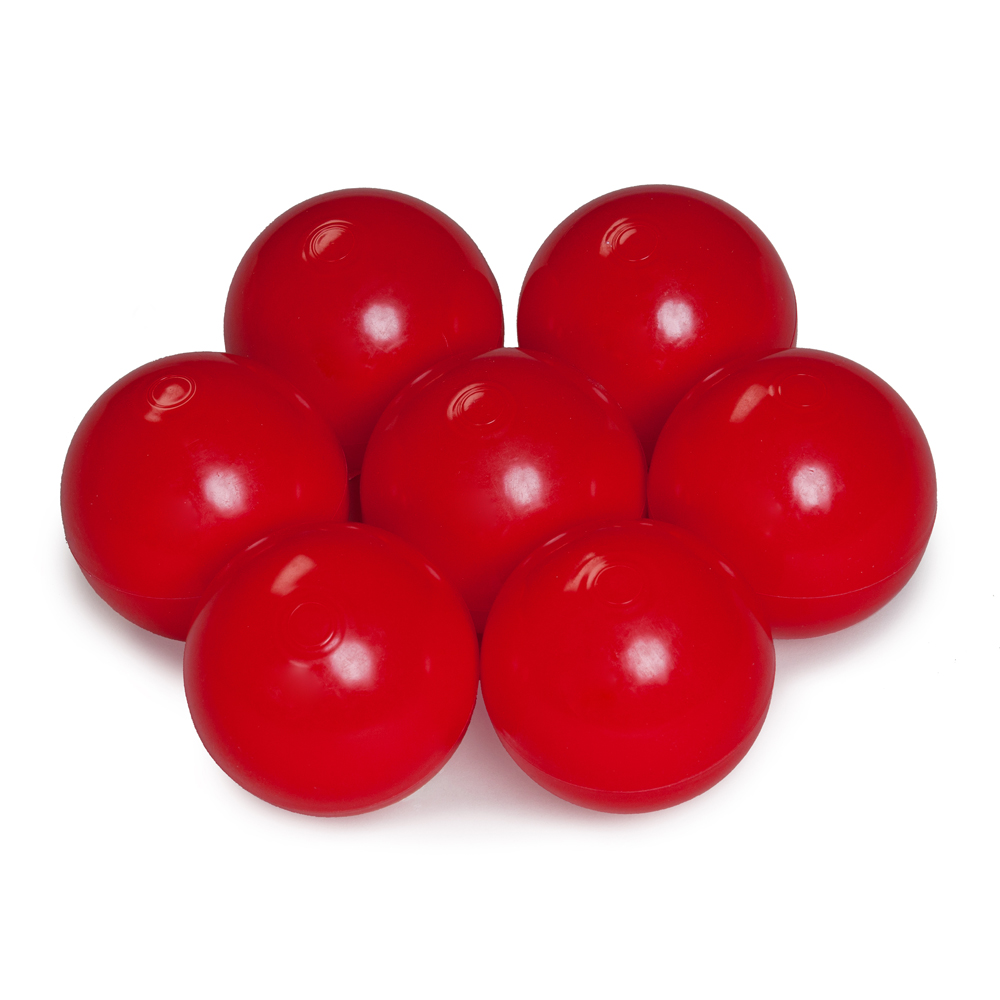 Color of the balls: red