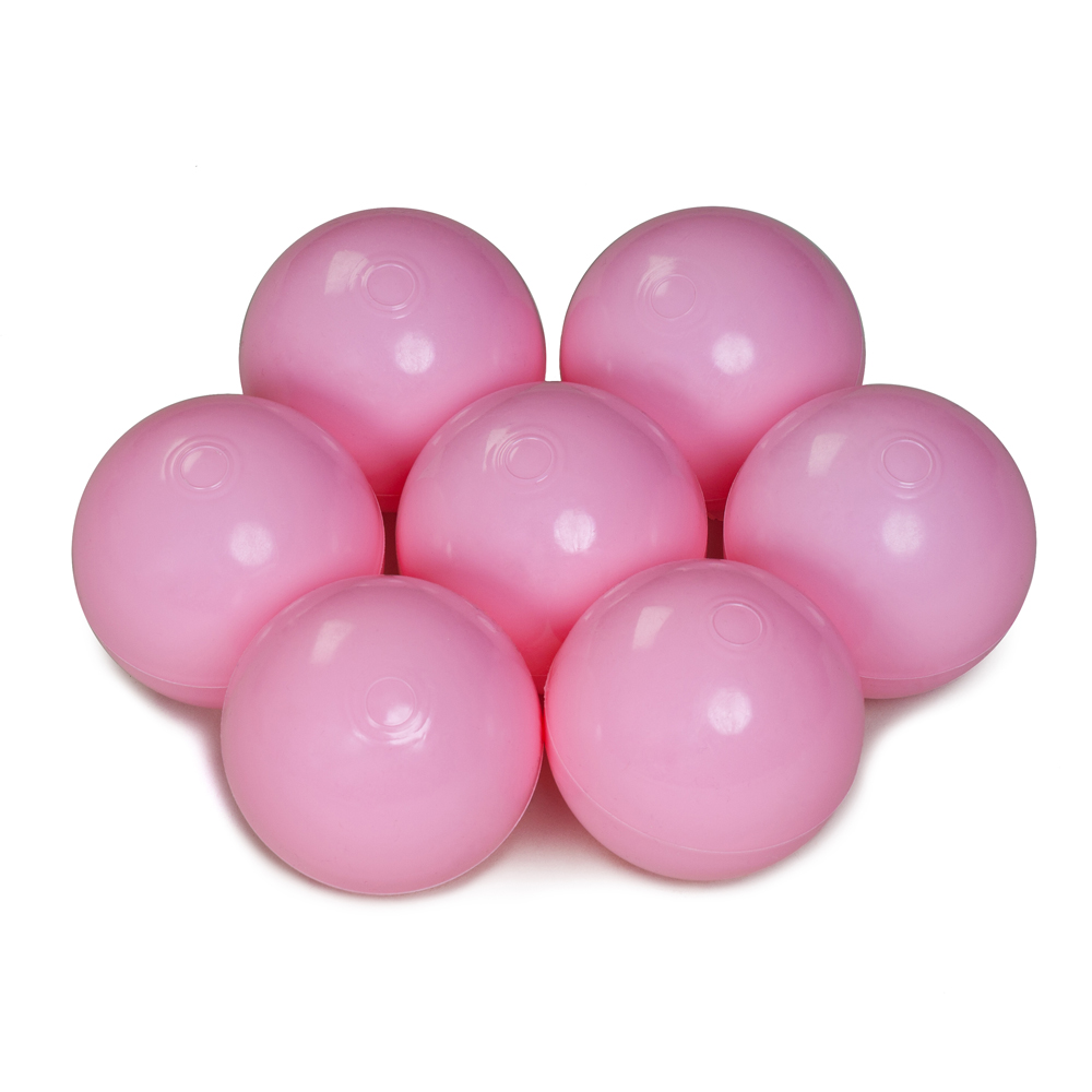 Color of the balls: milk pink