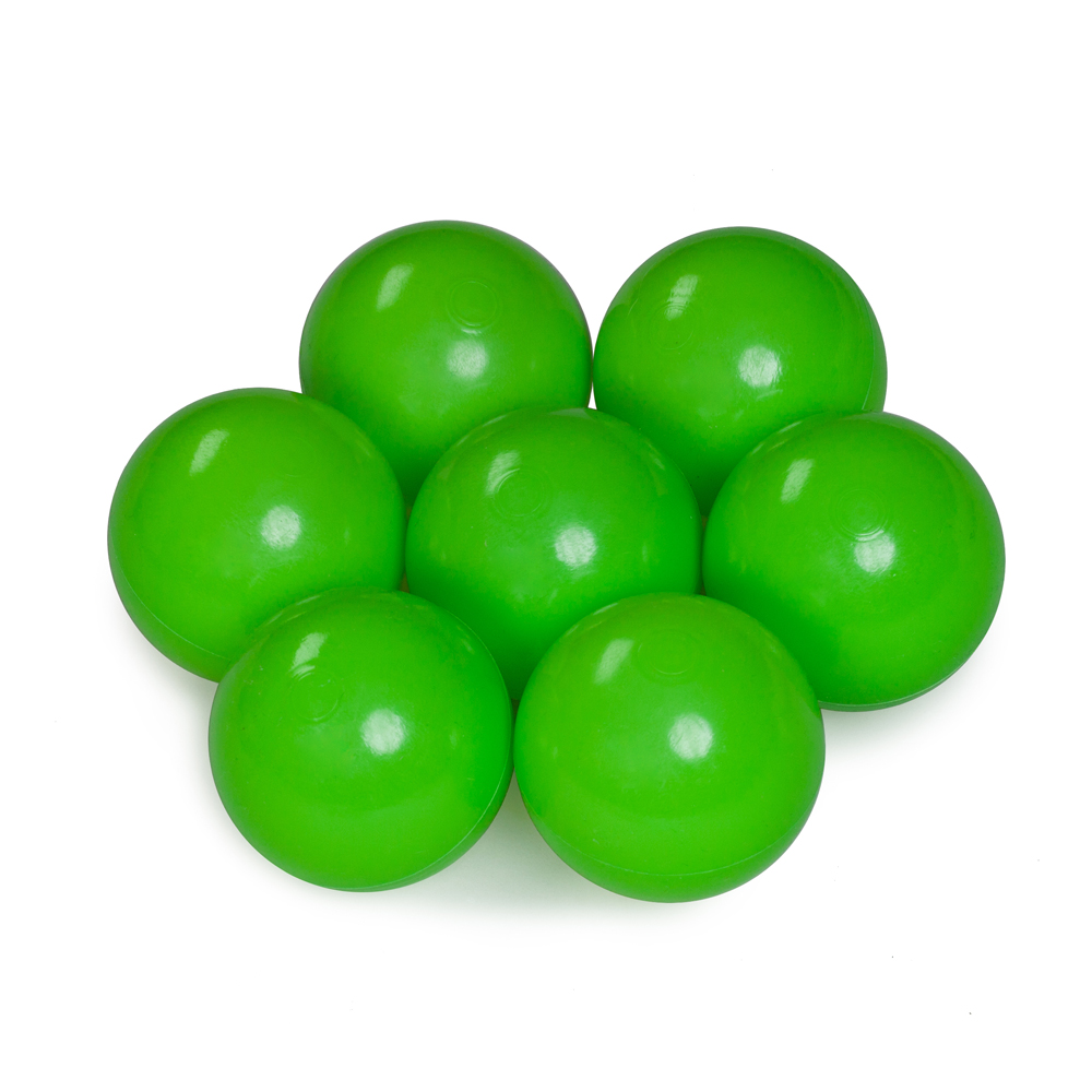 Color of the balls: lime